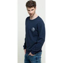 Diesel - Bluza. Czarne bluzy męskie rozpinane Diesel, l, z bawełny, bez kaptura. Za 339,90 zł.