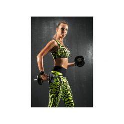 Topy sportowe damskie: TOP PUSH-UP ETNO – LIMONKA