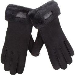 Rękawiczki Damskie UGG - W Turn Cuff Glove 17369 Black. Czarne rękawiczki damskie Ugg, ze skóry. Za 639,00 zł.