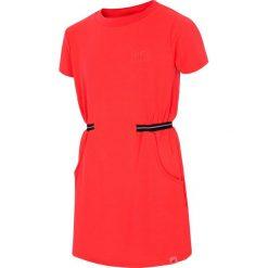 Sukienki dziewczęce dzianinowe: Sukienka dla dużych dziewcząt JSUDD208 - czerwony neon