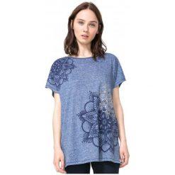Desigual T-Shirt Damski M Niebieski. Niebieskie t-shirty damskie Desigual, s. W wyprzedaży za 129,00 zł.