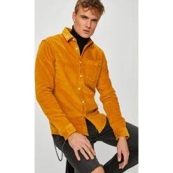 Review - Koszula. Brązowe koszule męskie na spinki Review, l, z bawełny, z klasycznym kołnierzykiem, z długim rękawem. Za 149,90 zł.