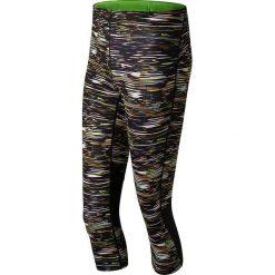 """Spodnie sportowe """"Impact"""" w kolorze czarnym ze wzorem. Czarne bryczesy damskie marki New Balance, xs, z materiału. W wyprzedaży za 142,95 zł."""