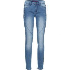"""Jeansy damskie: Dżinsy ze sztrasami bonprix niebieski """"stone"""" - niebieski """"bleached"""""""