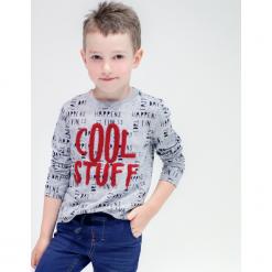 Koszulka. Szare t-shirty chłopięce z długim rękawem COOL, z aplikacjami. Za 49,90 zł.