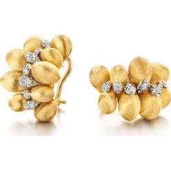 Kolczyki damskie: Wspaniałe Kolczyki Złote – złoto żółte 750, Brylant 0,49ct