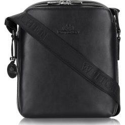 Torba 20-3-049-1. Czarne torby na ramię męskie marki Wittchen, w paski, do ręki, małe. Za 966,00 zł.