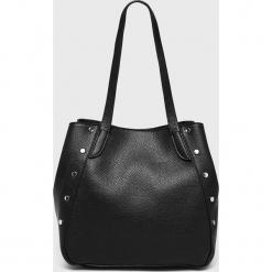 Pieces - Torebka Kimberley. Czarne torebki klasyczne damskie marki Pieces, z materiału, duże. Za 169,90 zł.