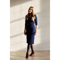 Sukienki ciążowe: Sukienka Filomena granatowa 32/34