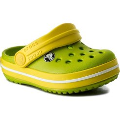 Klapki CROCS - Crocband Clog K 204537 Volt Green/Lemon. Różowe klapki chłopięce marki Crocs, z materiału. W wyprzedaży za 119,00 zł.
