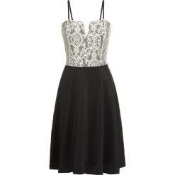 Krótka sukienka bonprix czarno-kremowy. Czarne sukienki hiszpanki bonprix, z krótkim rękawem, mini. Za 159,99 zł.