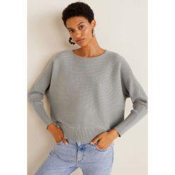 Mango - Sweter Widie. Szare swetry klasyczne damskie marki Mango, l, z dzianiny, z okrągłym kołnierzem. Za 139,90 zł.