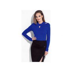 Bluzki asymetryczne: Wiązana bluzka damska z długim rękawem