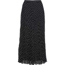 Spódniczki: Spódnica z szyfonu bonprix czarno-biały w kropki