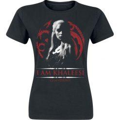 Bluzki asymetryczne: Gra o Tron Daenerys Targaryen - I Am Khaleesi Koszulka damska czarny