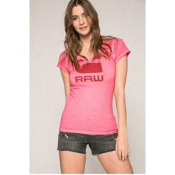 G-Star Raw - Top. Czerwone topy damskie marki G-Star RAW, l, z bawełny. Za 169,90 zł.