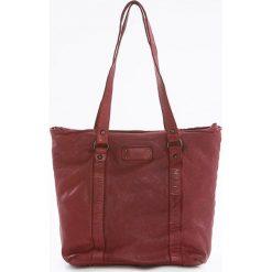 Shopper bag damskie: Shopper bag w kolorze czerwonym – 28 x 30 x 12 cm
