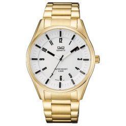 Biżuteria i zegarki męskie: Zegarek Q&Q Męski QA54-004 Sportowy złoty