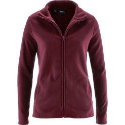 Bluza rozpinana z polaru z wpuszczanymi kieszeniami bonprix czerwony klonowy. Czerwone bluzy polarowe bonprix. Za 37,99 zł.