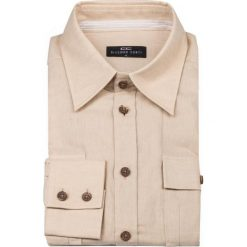 Koszula FILIPPO 12-03-17. Brązowe koszule męskie na spinki marki FORCLAZ, m, z materiału, z długim rękawem. Za 259,00 zł.