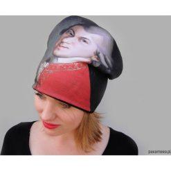 Czapka #mozart. Szare czapki damskie Pakamera, na zimę, z dzianiny. Za 93,00 zł.