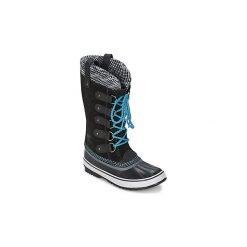 Śniegowce Sorel  JOAN OF ARCTIC KNIT. Czarne buty zimowe damskie Sorel. Za 524,30 zł.