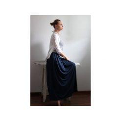 Długa zwiewna granat. Niebieskie długie spódnice Szarymary, na lato, xl, z gumy. Za 119,00 zł.