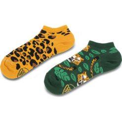 Skarpety Niskie Unisex MANY MORNINGS - El Leopardo Low Kolorowy. Brązowe skarpetki męskie marki Many Mornings, w kolorowe wzory, z bawełny. Za 19,00 zł.