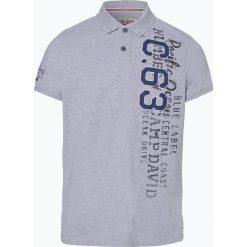Camp David - Męska koszulka polo, szary. Szare koszulki polo Camp David, m, z aplikacjami. Za 279,95 zł.