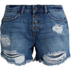 Bermudy damskie: Noisy May NMMILLE LOOSE LEOPARD Szorty jeansowe medium blue denim