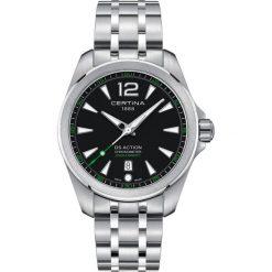 PROMOCJA ZEGAREK CERTINA DS Action C032.851.11.057.02. Czarne zegarki męskie CERTINA, szklane. W wyprzedaży za 1663,21 zł.
