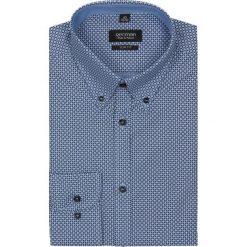 Koszule męskie jeansowe: koszula vilar 2122 długi rękaw slim fit niebieski