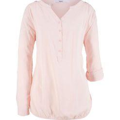 Bluzka, długi rękaw bonprix perłowy jasnoróżowy. Czerwone bluzki longsleeves marki bonprix. Za 49,99 zł.