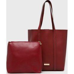 Monnari - Torebka. Brązowe torebki klasyczne damskie Monnari, w paski, z materiału, duże. W wyprzedaży za 149,90 zł.