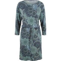 Sukienki: Sukienka z rękawami 3/4 bonprix nocny niebieski z nadrukiem