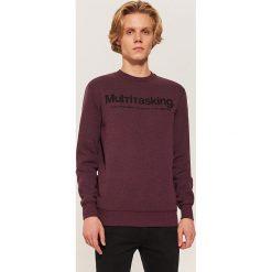 Bluza z napisem - Fioletowy. Fioletowe bluzy męskie rozpinane marki House, l, z napisami. Za 79,99 zł.