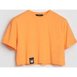 T-shirty damskie: Krótki t-shirt – Pomarańczo