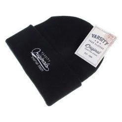 Czapka w kolorze czarnym. Czarne czapki zimowe męskie Camel Active, Varsity, z materiału. W wyprzedaży za 44,95 zł.