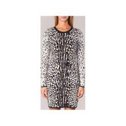 Sukienki krótkie MICHAEL Michael Kors  ANIMAL JACQUARD DRS. Sukienki małe czarne marki MICHAEL Michael Kors, m, z krótkim rękawem. Za 879,20 zł.