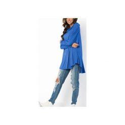 BLUZKA BLUZA MELANGE | OVERSIZE NIEBIESKA KOBALTOWA. Czerwone długie bluzy damskie marki Meleksima, l, z materiału, midi, oversize. Za 125,30 zł.