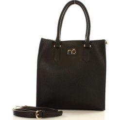 Shopper bag damskie: Klasyczna torebka shopper czarna ATHENA
