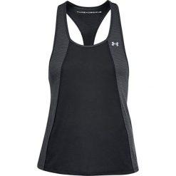 Top w kolorze czarno-szarym. Czarne topy sportowe damskie marki Under Armour, xs, z materiału. W wyprzedaży za 64,95 zł.