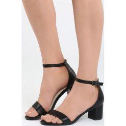 Rzymianki damskie: Czarne Sandały Bright Star