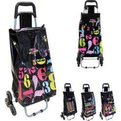 Wózek w kolorze czarnym na zakupy - 35 x 95 x 34 cm. Czarne torebki klasyczne damskie Easy Make, z tkaniny. W wyprzedaży za 86,95 zł.