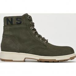 Tommy Jeans - Buty. Szare buty trekkingowe męskie Tommy Jeans, z gumy, na sznurówki, outdoorowe. Za 599,90 zł.