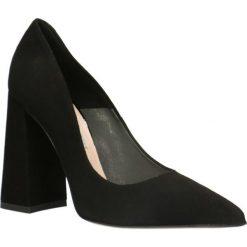 Czółenka INGRID. Czarne buty ślubne damskie Gino Rossi, ze skóry, na wysokim obcasie, na obcasie. Za 329,90 zł.