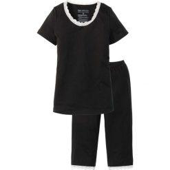 Piżamy damskie: Piżama ze spodniami 3/4, bawełna organiczna bonprix czarno-biały