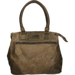 Torba - PLE10138 OLIV. Brązowe torebki klasyczne damskie Venezia, ze skóry. Za 449,00 zł.