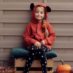 Bluzy dziewczęce rozpinane: Bluza Myszka z uszami