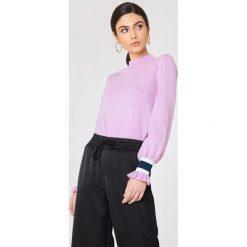 Swetry klasyczne damskie: Sisters Point Sweter Lafa – Purple